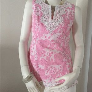 Very Cute Pink Designed Lilly Pulitzer Blouse